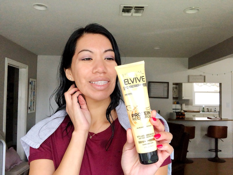 L'Oréal's Elvive Total Repair 5 Protein Recharge Leave in Conditioner is the hair saver you've been looking for - livingmividaloca.com - #LivingMiVidaLoca #StopWaiting #SaveOnElvive #HairCare