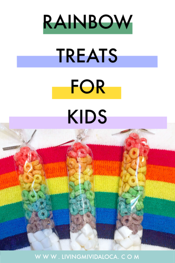 Rainbow treats for kids - livingmividaloca.com - #livingmividaloca #rainbow #snacks #rainbowsnacks