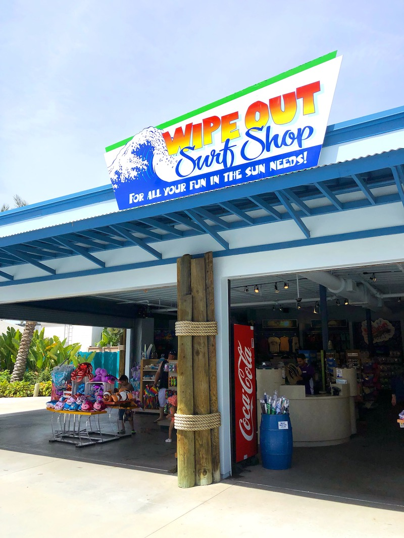 Buy waterpark essentials at Wipe Out Surf Shop at Knott's Soak City in Buena Park, CA - livingmividaloca.com - #LivingMiVidaLoca #KnottsSoakCity #KnottsBerryFarm #BuenaPark