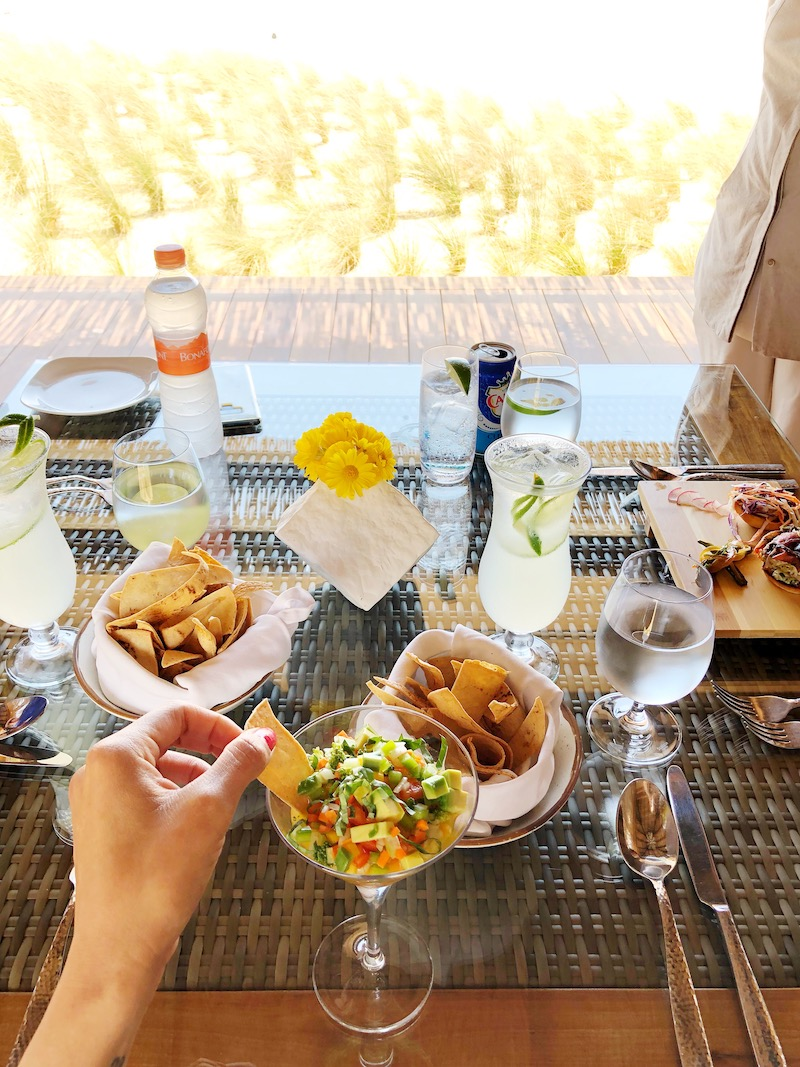 Dining at Rancho San Lucas spa where they offer luxurious spa treatment and dining by the ocean in Los Cabos. - livingmividaloca.com - #livingmividaloca #loscabos #gnomads #solmarresorts
