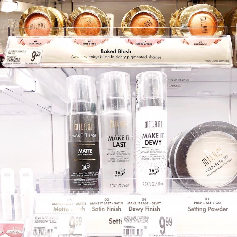 Milani Baked Blush & Make It Last Charcoal Matte Setting Spray at Walgreens - livingmividaloca.com - #MilaniAtWalgreens #MilaniCosmetics
