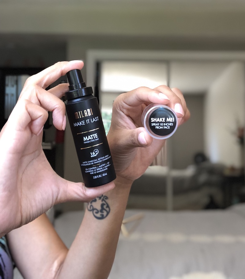 Trying out the new Milani Make It Last Charcoal Matte Setting Spray - livingmividaloca.com | #MilaniAtWalgreens #MilaniCosmetics