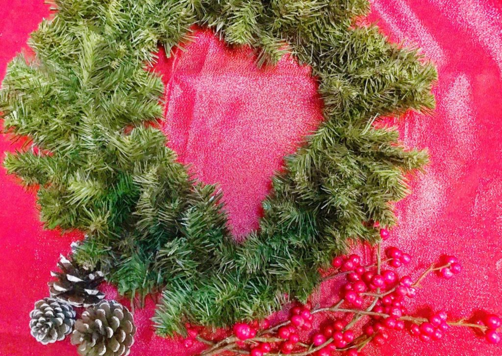 Dollar Tree Christmas Wreath step-by-step process