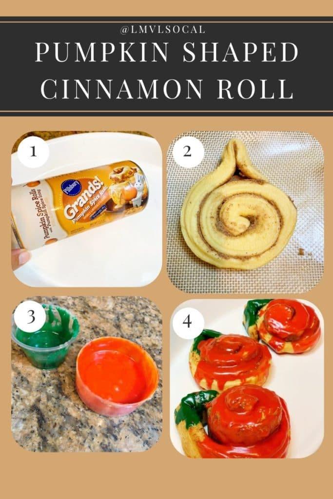 Pumpkin Shaped Cinnamon Rolls recipe