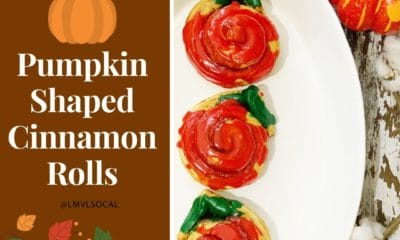 Pumpkin shaped cinnamon rolls