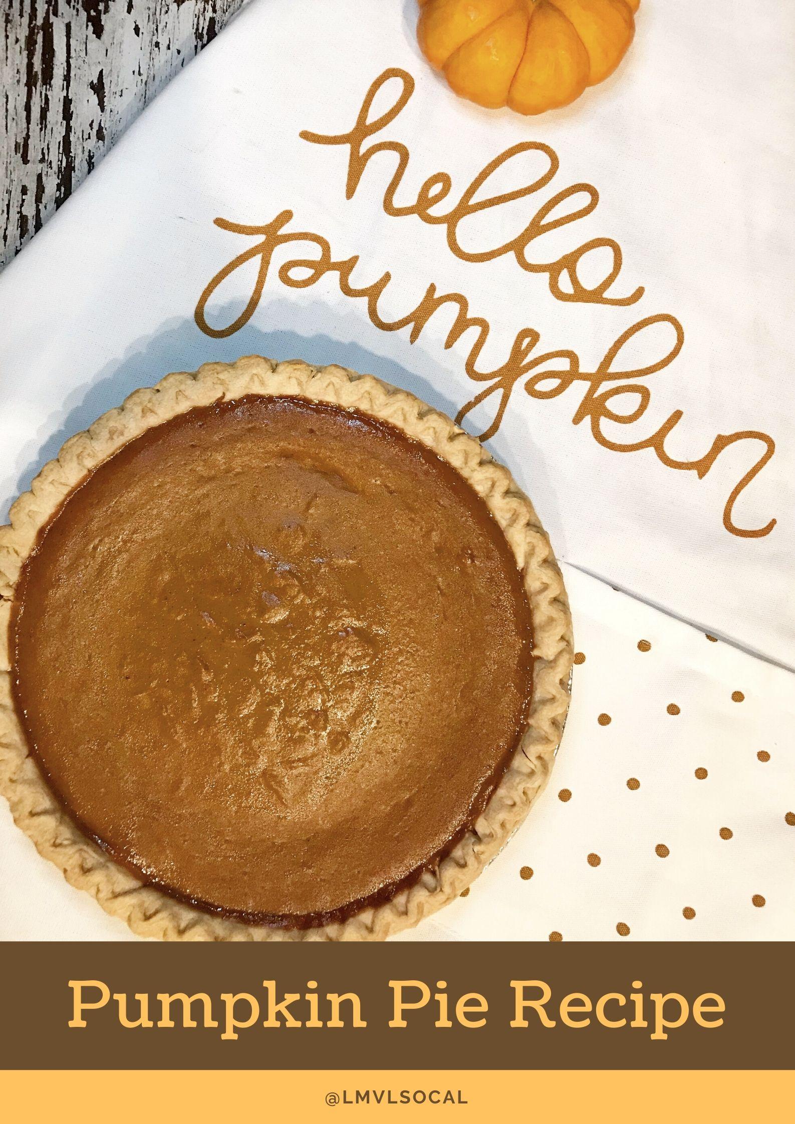 easy pumpkin pie recipe done in three steps - livingmividaloca.com