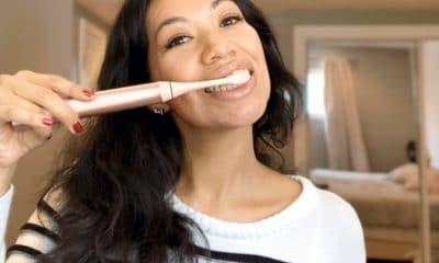 BURST Sonic Toothbrush in rose gold product review - livingmividaloca.com