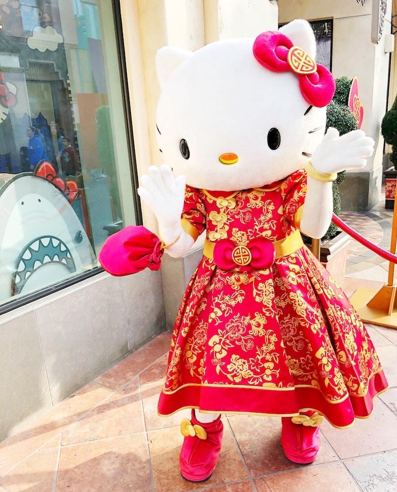 Lunar New Year Hello Kitty at Universal Studios Hollywood - livingmimvidaloca.com
