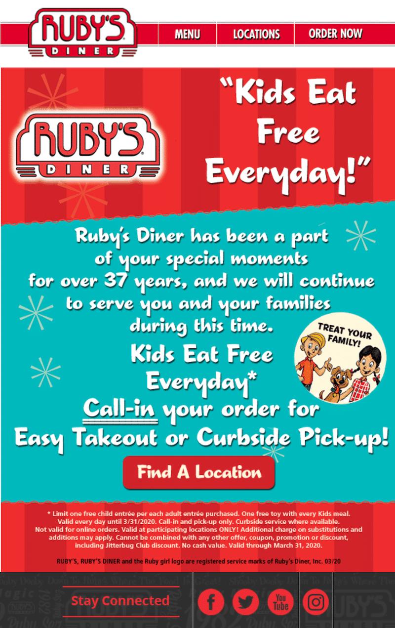 kids eat free meals - livingmividaloca.com