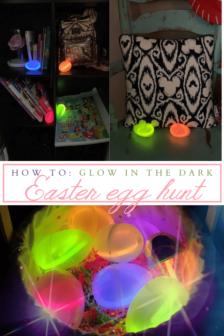Glow in the Dark Easter egg hunt - livingmividaloca.com