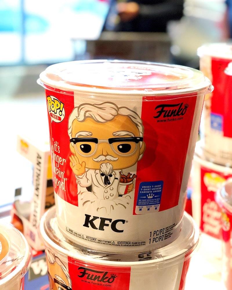 KFC Funko POPs at Funko Hollywood store - livingmividaloca.com