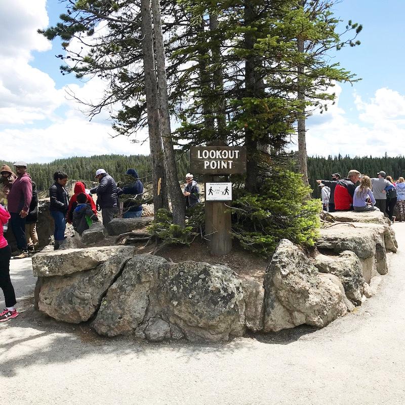 Road trip to see North Rim Drive at Yellowstone with kids and car camping along the way - livingmividaloca.com