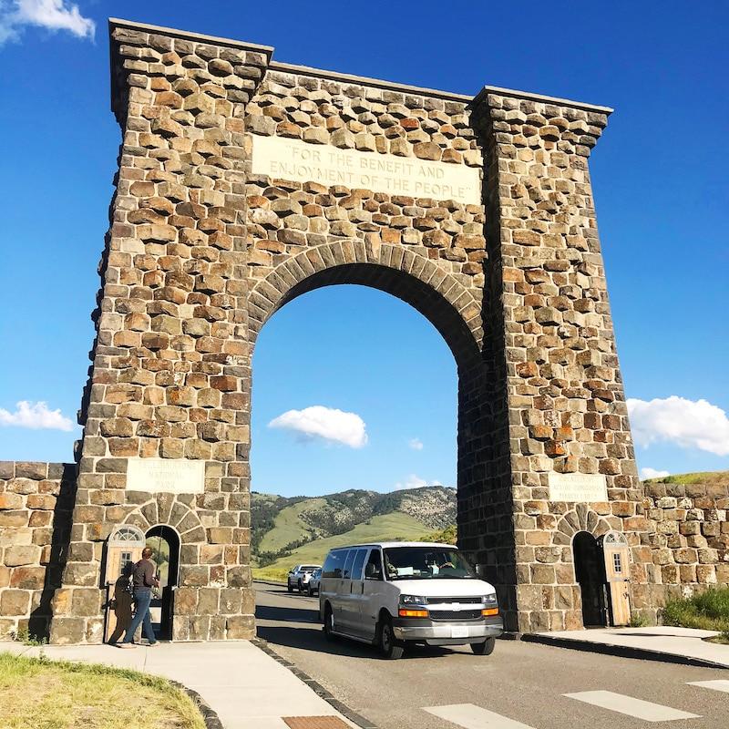 North Entrance at Yellowstone while on road trip - livingmividaloca.com