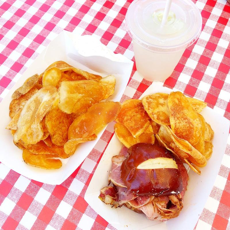 Taste of Calico at Knott's Berry Farm pastrami sandwich - livingmividaloca.com
