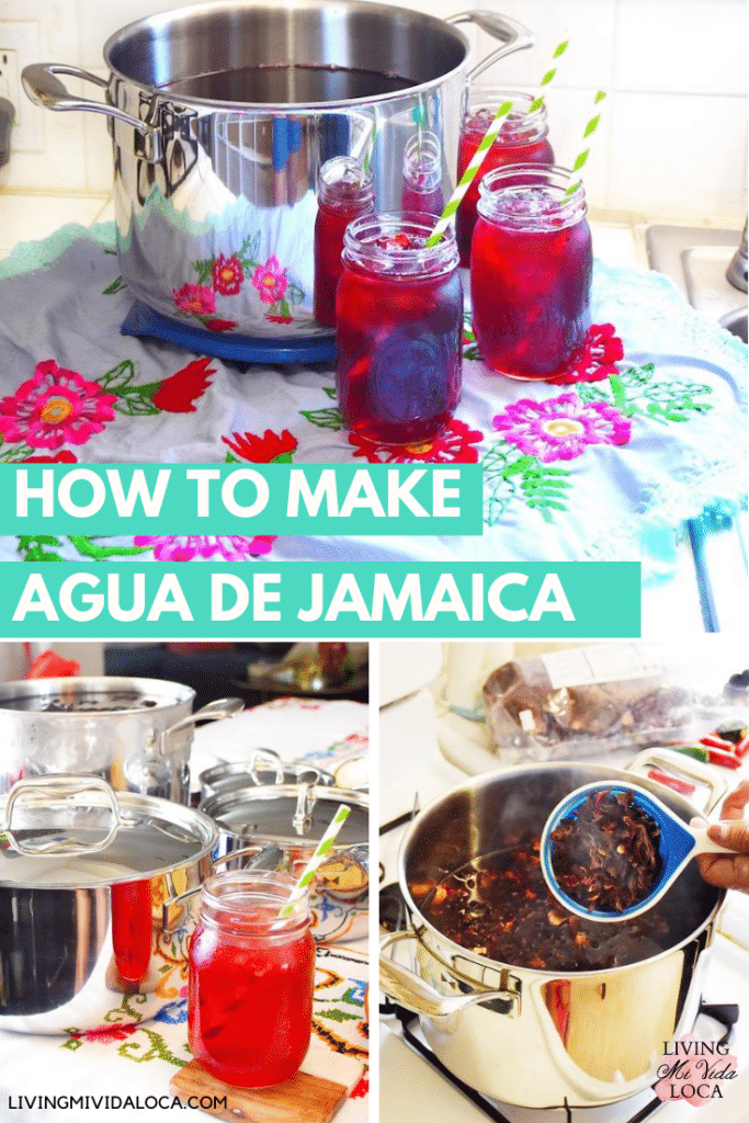 How to make agua de jamaica - hibiscus tea - livingmividaloca.com
