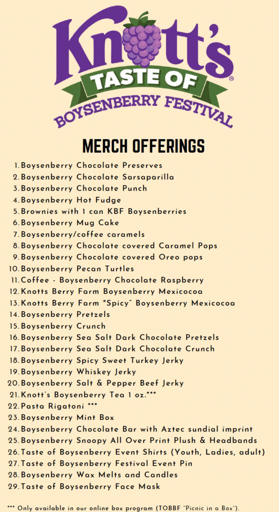 Taste of boysenberry festival at Knott's berry farm