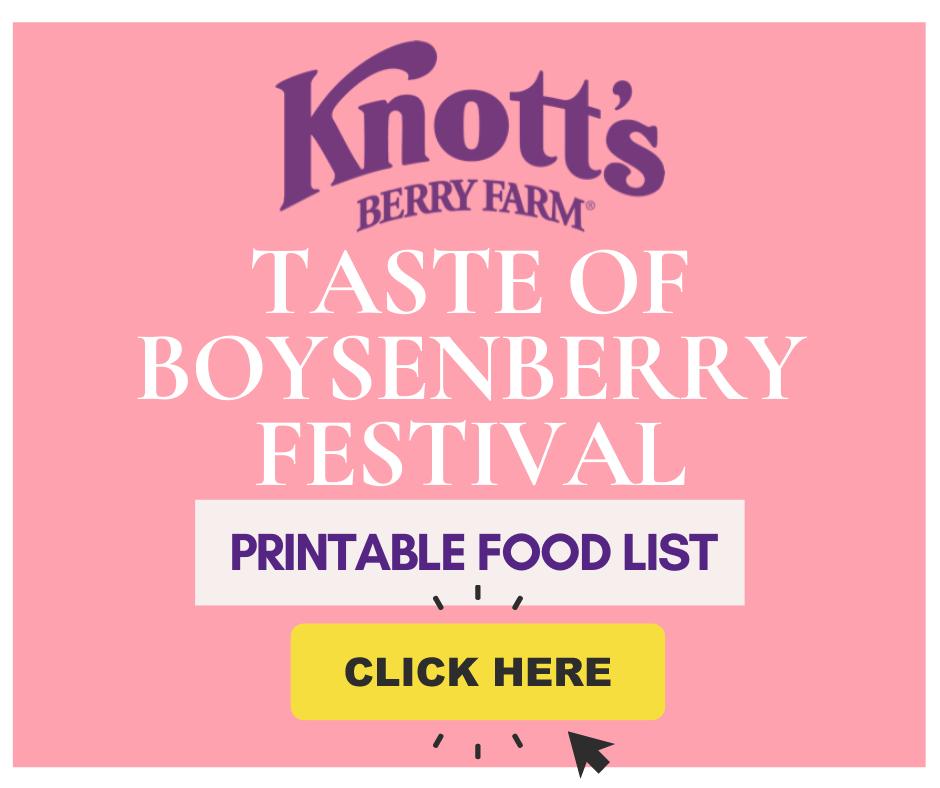 Taste of Boysenberry Festival printable food list - livingmividaloca.com
