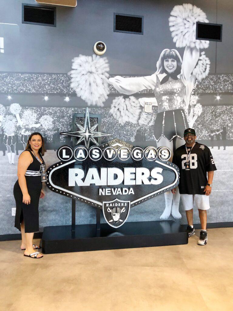 Las Vegas sign at Allegiant Stadium
