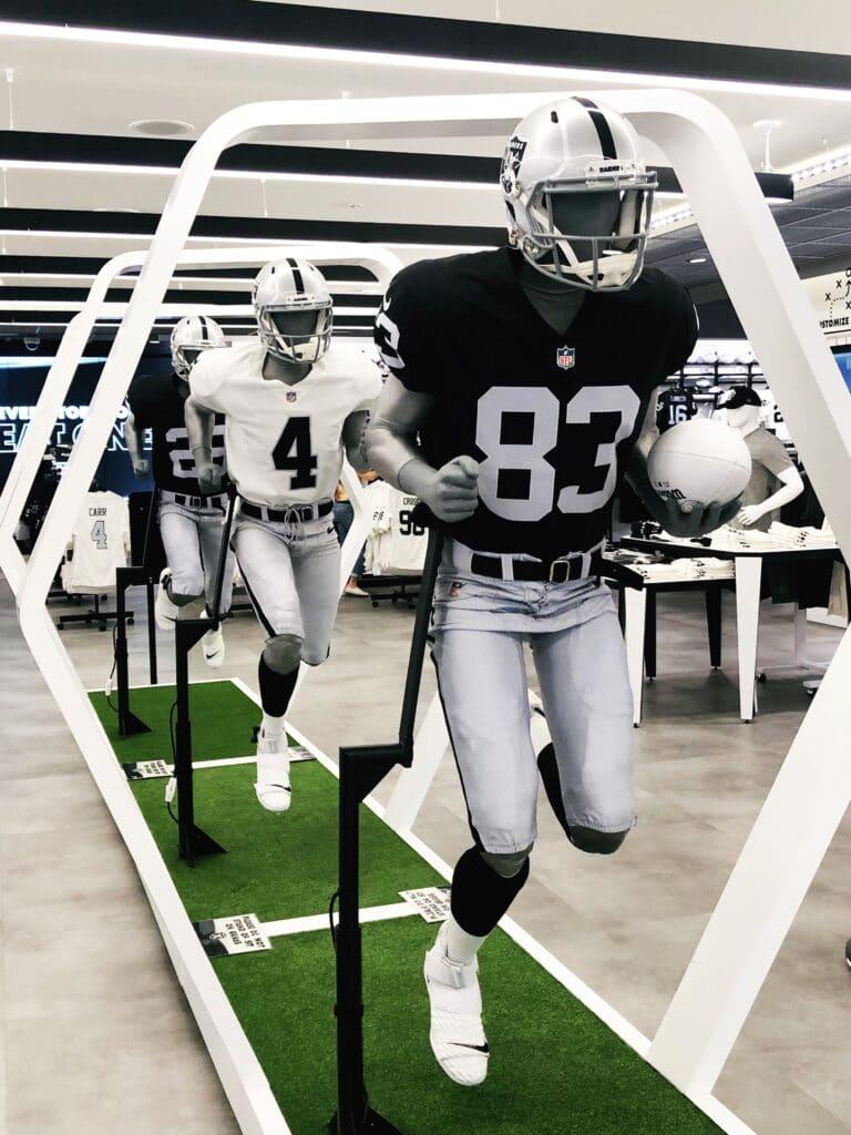Raiders store players