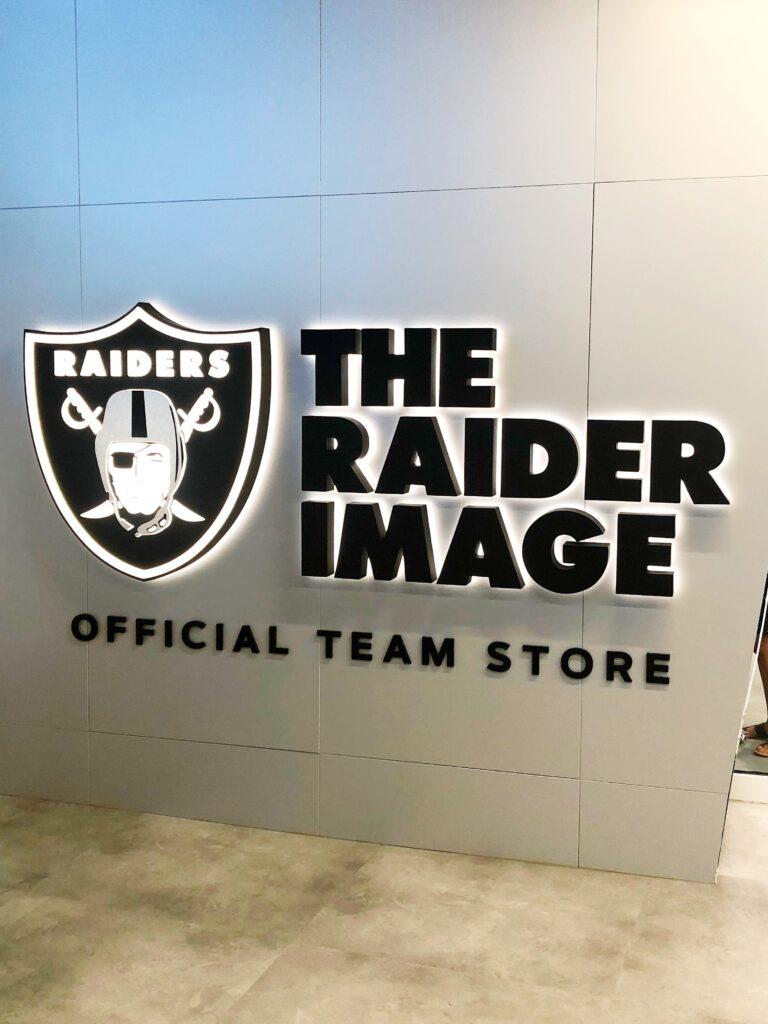 The Raiders store at Allegiant