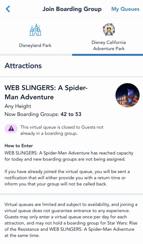 virtual queue for WEB SLINGERS: A Spider-Man Adventure - livingmividaloca.com
